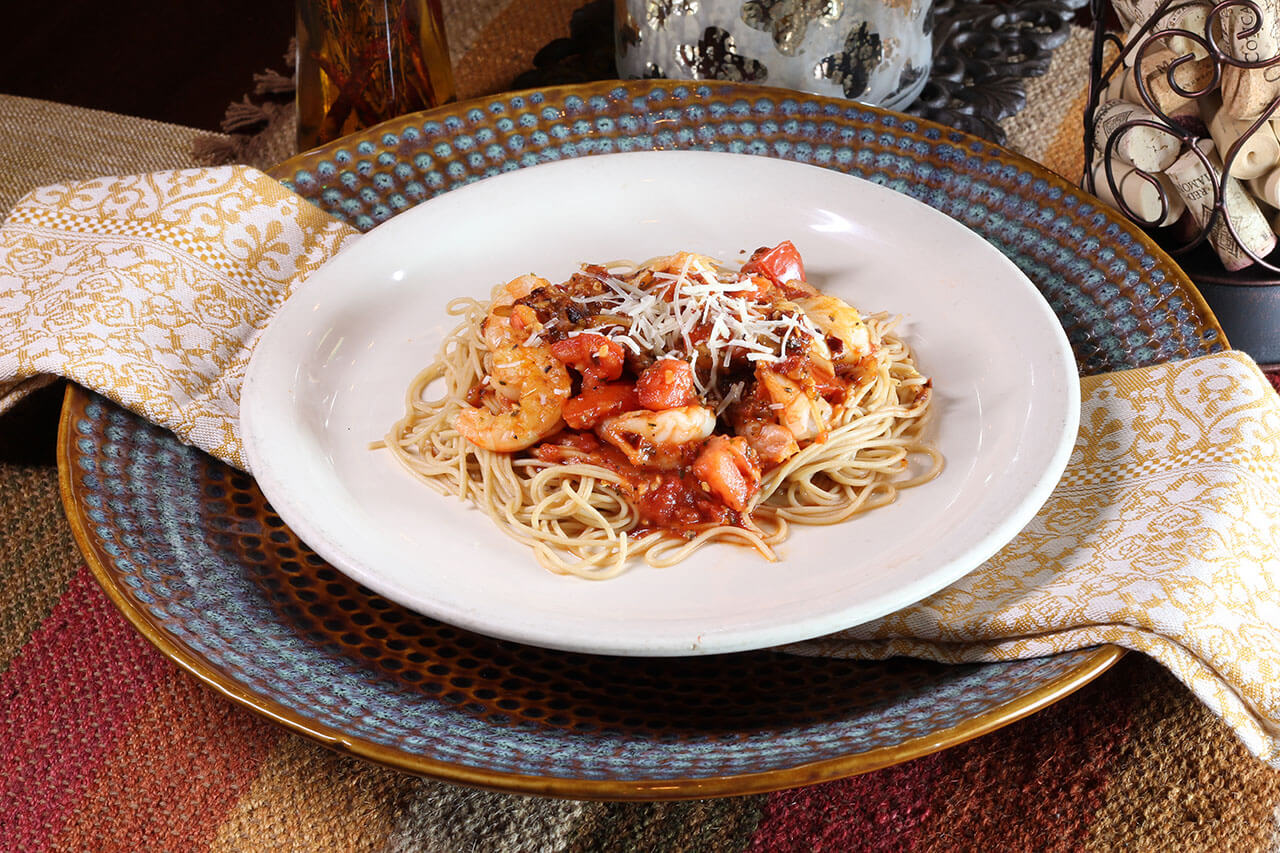 Pallotta's shrimp pasta
