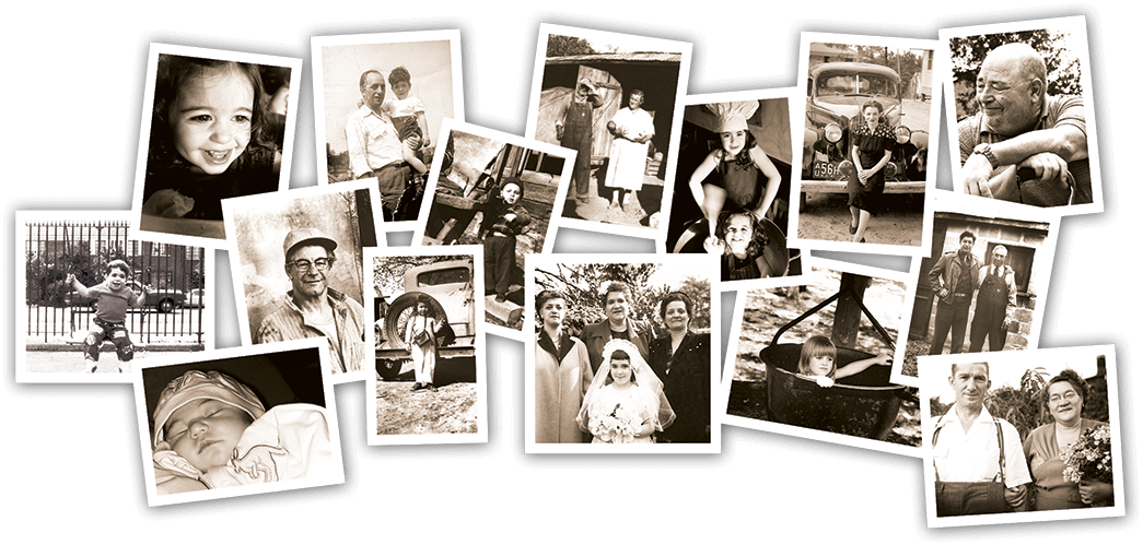 Collage of family pictures