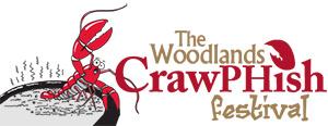 The Woodlands Crawphish festival logo