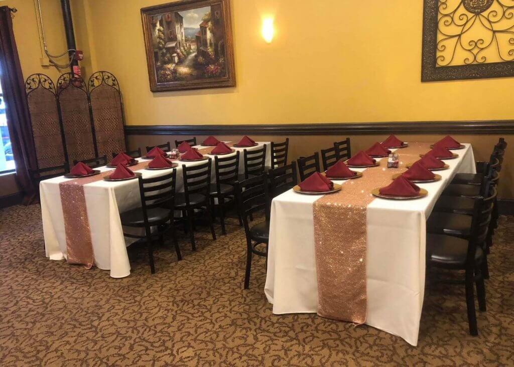 pallottas italian grill private banquet room